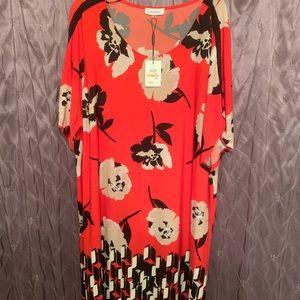Calvin Klein flowered dress NWT